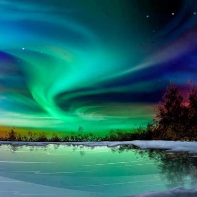 AURORA BOREALIS, ALASKA courtesy Amazing Things in the World